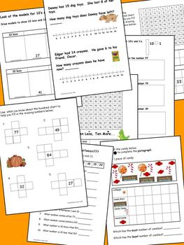 October Math Journal to fit CCSS Algebric Thinking, Base Ten, Measurement & Data