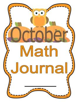 October Math Journal to fit CCSS Algebric Thinking, Base T
