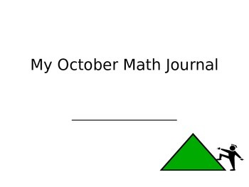 October Math Journals CCSS