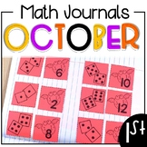 October Math Journals First Grade