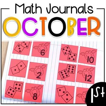 October Math Journals First Grade