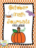 October Math Journals {First Grade}