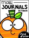 October Math Journals | Second Grade