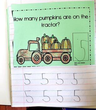 October Math Journals for PreK/Kindergarten/Special Education
