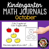 October Math Journals with Number Bonds: Kindergarten