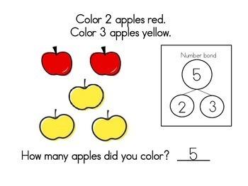 October Math Journals with Number Bonds: Kindergarten