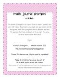 October Math Journals