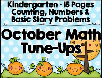 October Math Kindergarten
