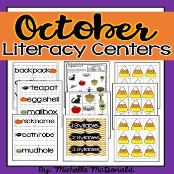October Math & Literacy Centers