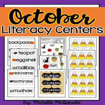 October Math & Literacy BUNDLE