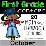 October Math & Literacy Centers - First Grade