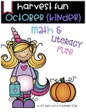 October Math & Literacy Fun for Kinders