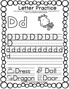 October Kindergarten Homework - Directions in English & Spanish
