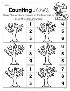 October Math & Literacy {Kindergarten}