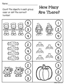 October Math & Literacy Morning Work