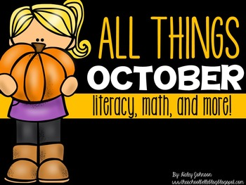 October Math, Literacy, and More! (Spiders, Owls, Bats aligned to Common Core)