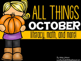 October Math, Literacy, and More! (Spiders, Owls, Bats ali