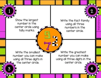 October Math Mats {second grade}