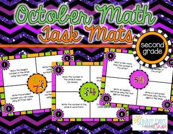 October Math Mats {second grade}