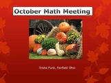 October Math Meeting