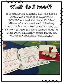 October Math Missions
