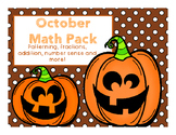 October Math Pack (Fractions, Patterning, Number Sense and More!)