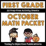 October Math Packet First Grade
