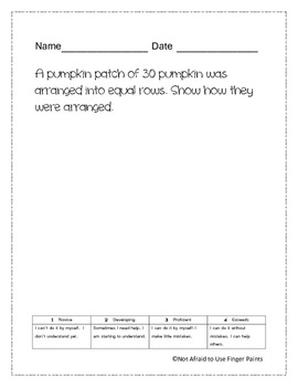 October Math Portfolio Bundle