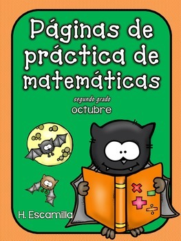 October Math Practice in Spanish for SECOND GRADE