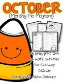 October Math Printables [Monthly No Mayhem]