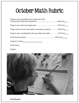 October Math Problem Solving Projects for Upper Elementary Students