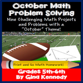 October Math Problem Solving Projects for Upper Elementary
