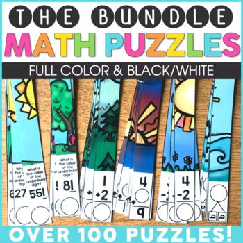 Math Puzzles | Math Centers | Math Games | Math Activities