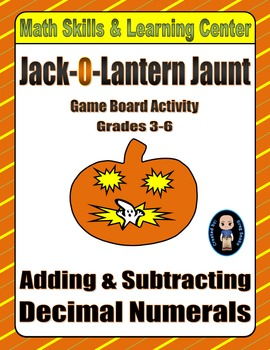Halloween Math Skills & Learning Center (Add & Subtract Decimals)
