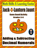 Halloween Math Skills & Learning Center (Add & Subtract Decimals)