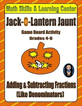 "Halloween Math Skills & Learning Center (Add & Subtract ""L"