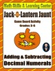 Halloween Math Skills & Learning Center (Decimal Bundle)