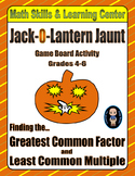 Halloween Math Skills & Learning Center (Finding the GCF & LCM)