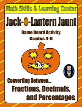 Halloween Math Skills & Learning Center (Fractions-Decimals-Percentages)