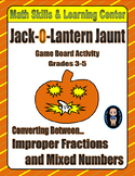 Halloween Math Skills & Learning Center (Improper Fractions & Mixed Numbers)