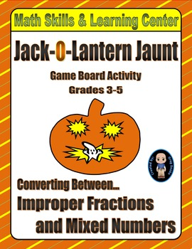 Halloween Math Skills & Learning Center (Improper Fraction
