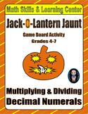 Halloween Math Skills & Learning Center (Multiply & Divide Decimals)