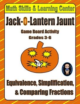 Halloween Math Skills & Learning Center (Simplifying & Com