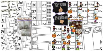 October Math Sorts - CCSS Aligned for Grades K-2