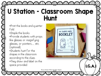 October Math Stations for First Grade