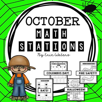 [16] October Math Stations {Columbus, Halloween, Bats, & F