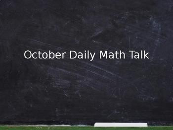 October Math Talks