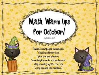October Math Warm Ups!