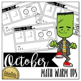 October Math Warm Ups - Differentiated for 2 levels!