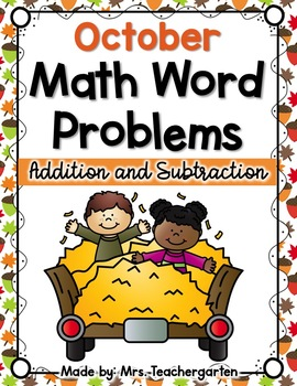 October Math Word Problems
